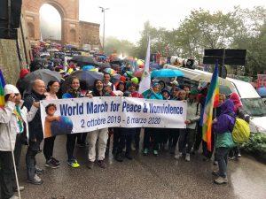 La Marcia Mondiale per la Pace e la Nonviolenza alla Perugia Assisi