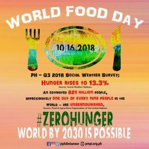 Giornata Mondiale dell'Alimentazione 2018. Dichiarazione del PMPI