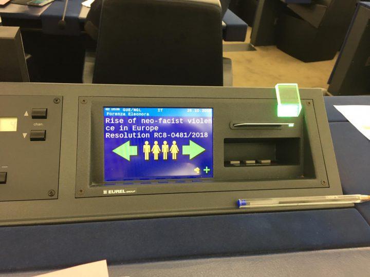 Il Parlamento Europeo approva risoluzione contro la violenza neofascista in Europa. Una vittoria storica