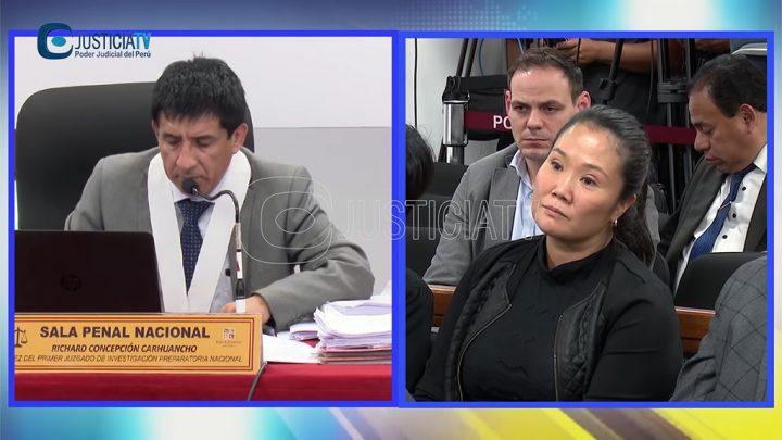 Juez peruano dicta 36 meses de prisión preventiva a Keiko Fujimori