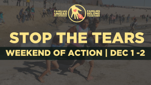 """Stop the Tears"", weekend of action on December 1 – 2"