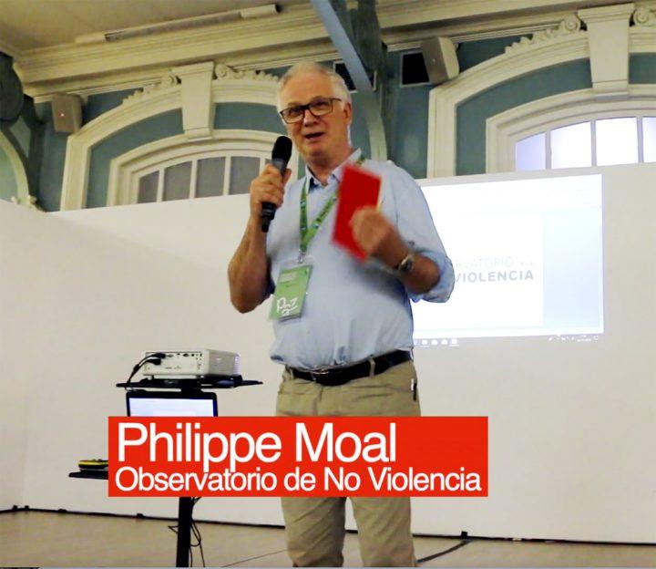 Philippe Moal présente l'Observatoire de la Nonviolence à Madrid