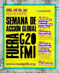 Comenzó en Buenos Aires semana de acción global Fuera G20 y FMI