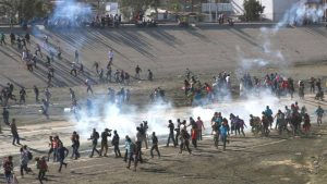 U.S. Border Patrol Fires Tear Gas at Families Seeking Asylum