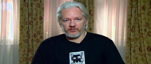 Julian Assange cornered
