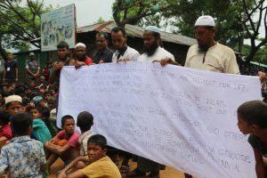 Protesta rohinyá en Bangladesh frena repatriación a Birmania