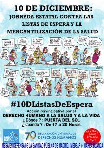 70 Aniversario Declaración Universal DDHH: En España, las listas de espera matan