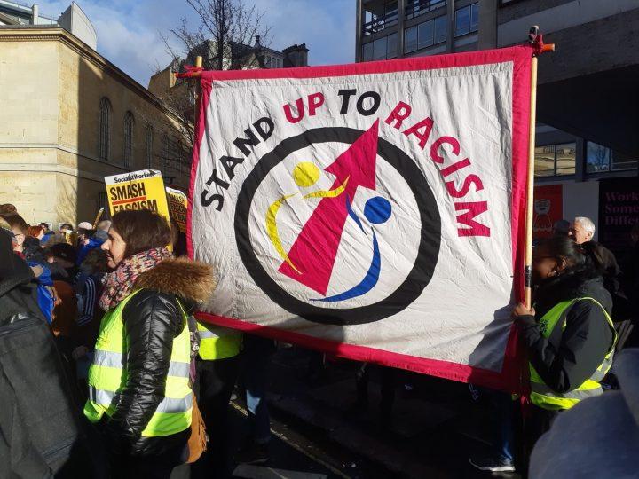 Anti-fascism march in London