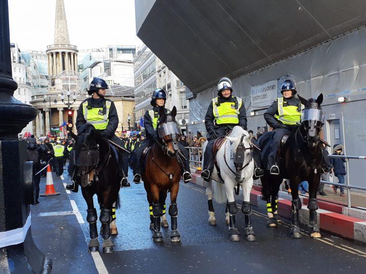 London anti-fascist march 11