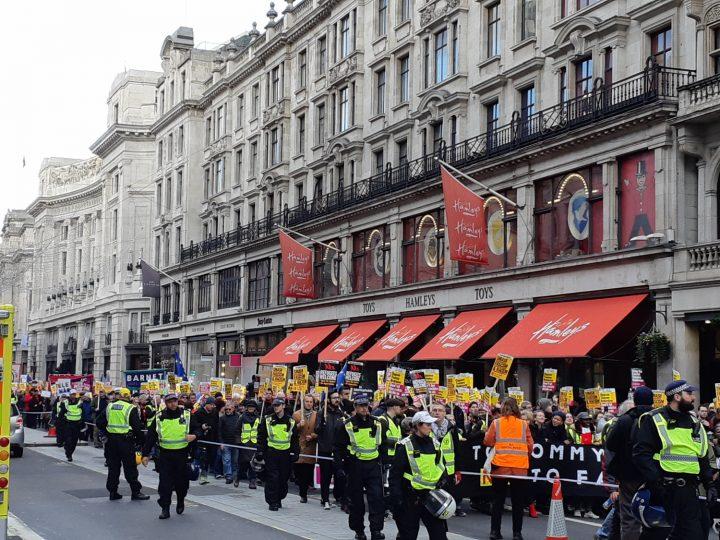 London anti-fascist march 16