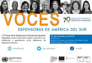 Chile: mujeres activistas de América del Sur darán charlas sobre derechos humanos
