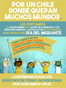 Organizaciones conmemorarán el Día Internacional del Migrante en el Museo de la Memoria