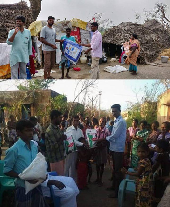 Network of Volunteers Bring Relief to Gaja Cyclone Victims in Tamilnadu, India