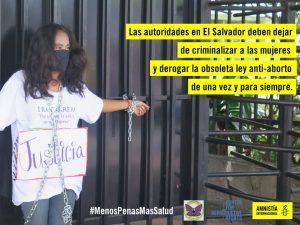 El Salvador: rilasciata dopo aver rischiato 20 anni di carcere