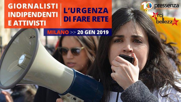 """Pressenza, Milano: al via gli incontri su """"Giornalisti indipendenti e attivisti, l'urgenza di fare rete"""""""
