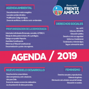 Medio ambiente, feminismo y derechos sociales son ejes centrales de bancada Frente Amplio para este 2019
