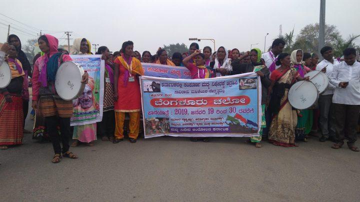 Padayatra by Thousands of Women March to Demand a Liqour Ban