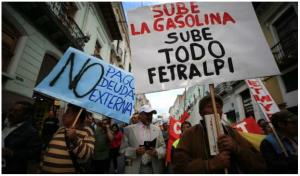 Reprimen protesta indígena y alistan nueva marcha contra medidas económicas