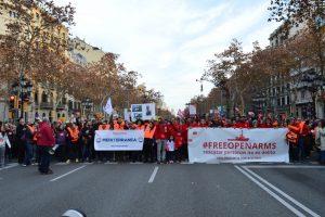 Des centaines de personnes manifestent leur soutien à Open Arms