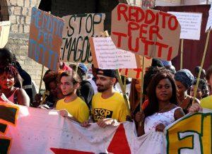 """L' Italia ha il """"Reddito di cittadinanza"""" ma la lotta per il diritto al reddito continua"""