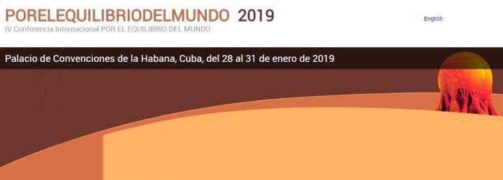 Por el Equilibrio del Mundo: Inaugurazione a Cuba
