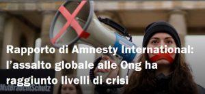Amnesty: rapporto sulle misure contro le ONG