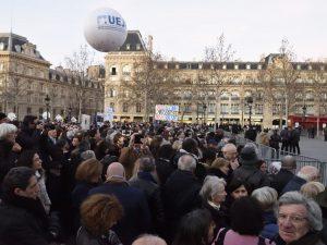 [Reportage photo. Rassemblements contre les actes antisémites] « …lorsque l'on oublie ce qui nous unit, la voie est ouverte à la violence »
