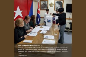 Cubanos en el exterior participaron en referendo sobre Constitución