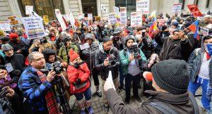 Συγκέντρωση έξω από τη Wall Street: Όχι πόλεμο στη Βενεζουέλα!