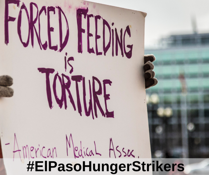 Hunger Strike Continues into 7th Week on day of Trump's Visit to El Paso