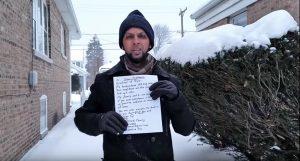 Chicago: familia musulmana deja notas en casas ofreciendo ayuda durante la ola de frío