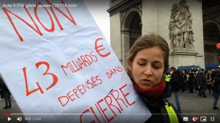 L'abolition des armes nucléaires et radioactives à l'agenda des Français et de certains Gilets Jaunes