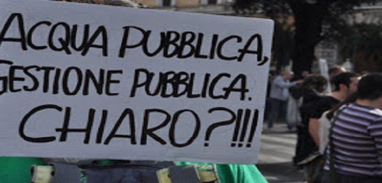 manifestazione acqua pubblica