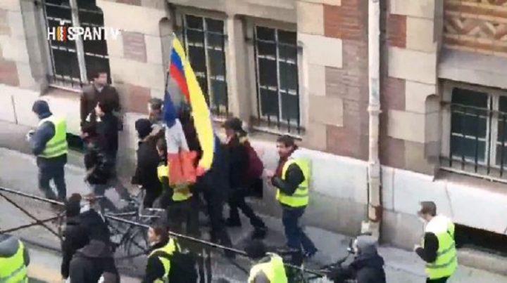 Chalecos amarillos muestran su apoyo a la soberanía de Venezuela