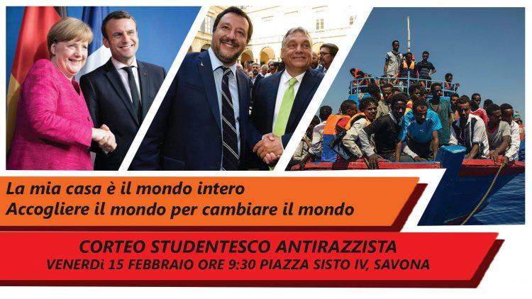 Corteo studentesco antirazzista a Savona