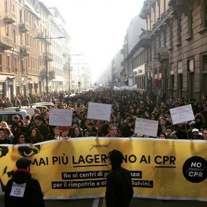 En Milán, la rabia y la alegría en la manifestación contra el decreto Salvini