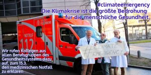 Die Klimakrise ist ein medizinischer Notfall – Gesundheitsberufe unterstützen den Schüler*innen-Streik