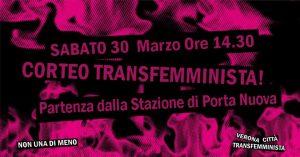 30M: Corteo Verona Transfemminista Non Una Di Meno