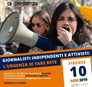 Pressenza: a Firenze il 10 Marzo per formare una rete tra attivisti e giornalisti