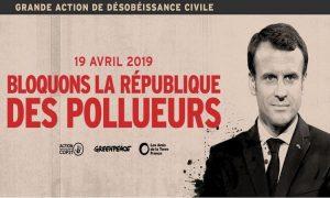 «Bloquons la République des pollueurs» – Grande action de désobéissance civile