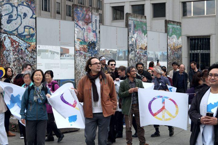 Menschenkette Korea Weltfrieden11