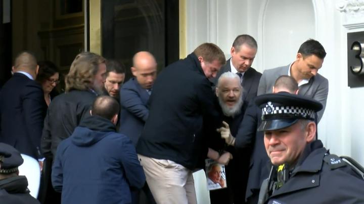 Julian Assange arrested at the Ecuadorian embassy