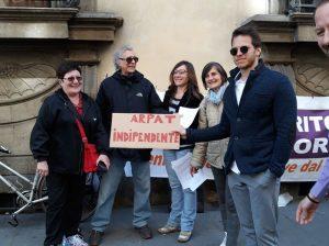 Firenze: presidio di protesta e di solidarietà con i lavoratori dell'ARPAT