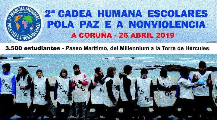 3.500 escolares por la Paz y la Noviolencia en A Coruña