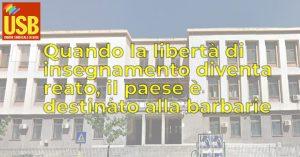 USB Scuola: 175mila firme per chiedere il ritiro della sanzione all'insegnante di Palermo. Il 22 maggio la consegna, presidi in tutte le città