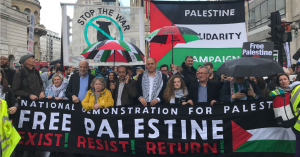 London Demo:'Stop Arming Israel, Stop Bombing Gaza'