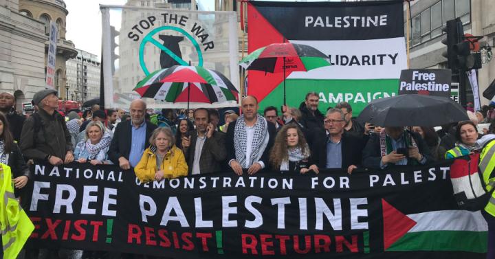 London Demo: 'Dejen de armar a Israel, dejen de bombardear Gaza'