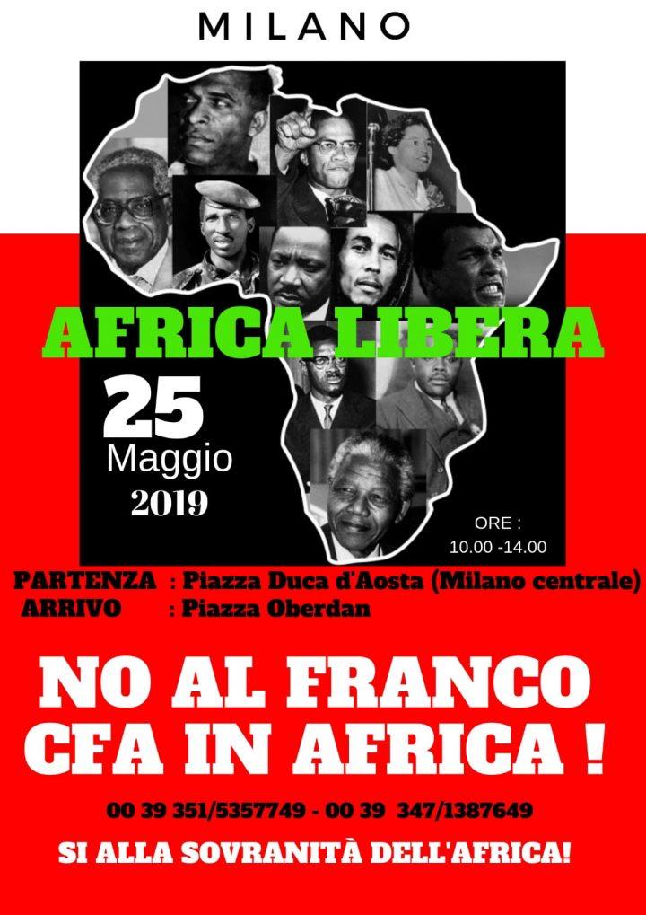 Milano, Marcia pacifica per la Pace e l'Indipendenza Monetaria dei Paesi dell'Africa