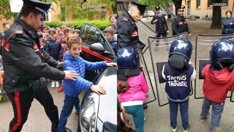 Bambini scuole elementari Carabineiri Cremona