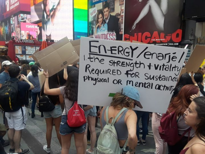 Climat Emergency Rally NYC May 2019 Sign